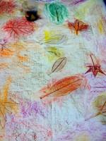 Leaf Rubbing Mural