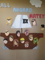 All Aboard – Pirate Ship Bulletin Board