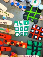 Sculpey Tic Tac Toe Boards