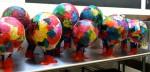 Tissue Paper/Paper Mache Hot Air Balloons