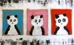 Painted Family Panda Portraits