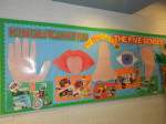 Kindergarten and The 5 Senses – Bulletin Board
