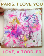 Mama, Take Me to Paris – Stamp and Glitter Art for Toddlers