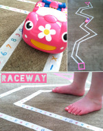 Go Car Go – Washi Tape Raceway for Toddlers