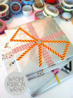 Washi Ribbon Wrap