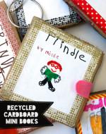 Recycled Cardboard Mini Books
