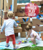 Cardboard Box Tower – Step by Step Toddler Play Group