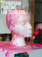 Invitation to Play – Painting on Styrofoam for Toddlers