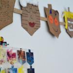Hanukkah Wall Art from Your Child's Art Work