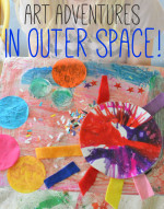 Outer Space Spin Art