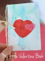 Valentine's Day Marbled Milk Book