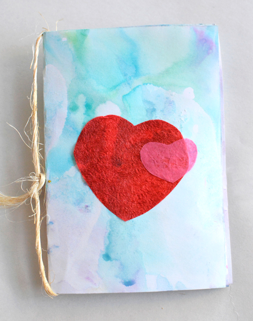 My Little Valentine Book with Milk Printing and Tissue Paper