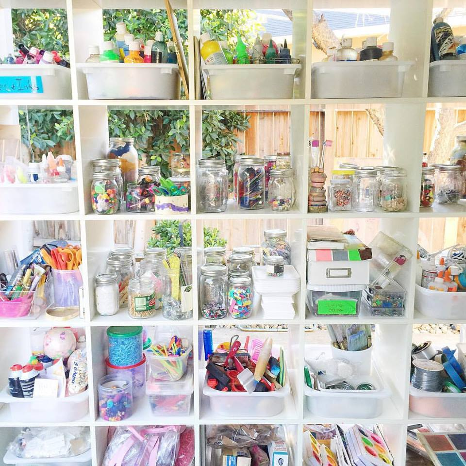 How to organize art supplies - tips to making your art area work