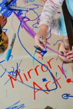 Mirror Art Activity for Toddlers
