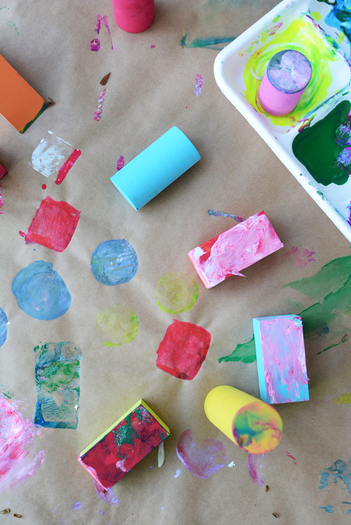 Easy Shape Painting for Toddlers