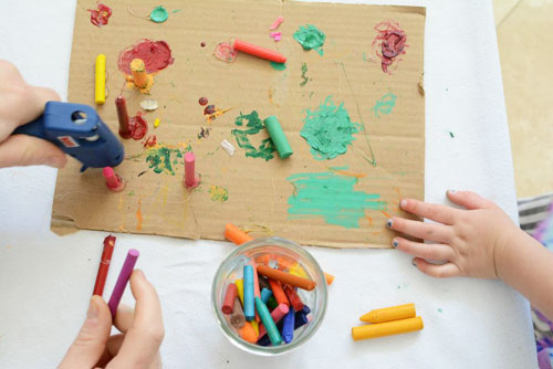 Collaborative Family Crayon Art