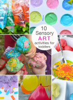 10 Beautiful and Engaging Sensory Art Activities for Toddlers