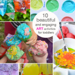 10 Art Activities to Toddlers - Invitations to Play for kids
