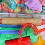 Rainbow Playdough for babies and toddlers
