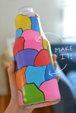 Make Your Own Milk Jar Vase