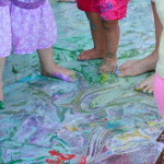 Feet Painting Disco Party | Meri Cherry Blog
