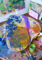 Tree Stump Painting for Toddlers – An Ongoing Canvas