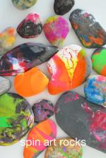 Spin Art Rocks for Kids