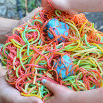 Rainbow Spaghetti and Meatball Sensory Play for Toddlers