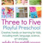 Three to Five Playful Preschool ebook for Kids
