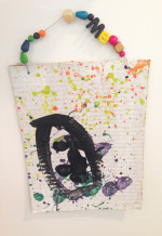 Reggio Inspired Splatter Paint Self Portraits with 3-5 Year Olds