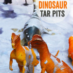 Small World Dinosaur Tar Pit for Kids - Dinosaur Activity for Kids