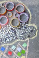Temporary Mosaic Art