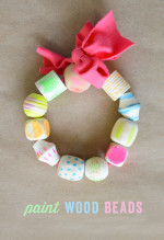 Paint Your Own Wood Beads