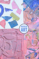 Recycled Shape Art – Easy Art Projects for Kids