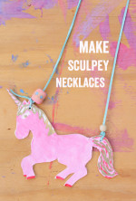 Back to School Sculpey Necklaces Part 1