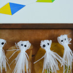 How to make a shredded paper ghost garland for halloween