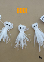 Shredded Paper Ghost Garland