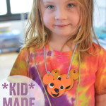 kid made necklaces - great sculpey art project for kids