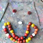 SImple Fall Activity - Make Beaded Art Sculptures
