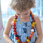 SImple Fall Activity - Make Beaded Art Sculptures