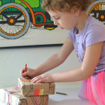 Make your own holiday wrapping paper for little artists