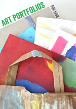Recycled Art Portfolios – An Easy Way to Store Your Child's Artwork