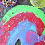 Recycled Hanging Rainbow Art