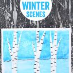 Framed Winter Art - Easy Art Projects for kids