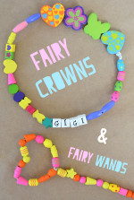 Beaded Fairy Wands and Fairy Crowns