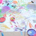 Freestyle Collaborative Painting Mural for Kids