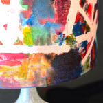 How gorgeous is this lampshade made by 3 and 4 year olds?!! I want this!