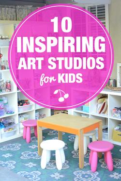 gorgeous inspiring art studios for kids