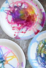 Salt Painting Process Art for Kids