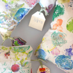 What a great idea. Kid made pillows are the best keepsake.